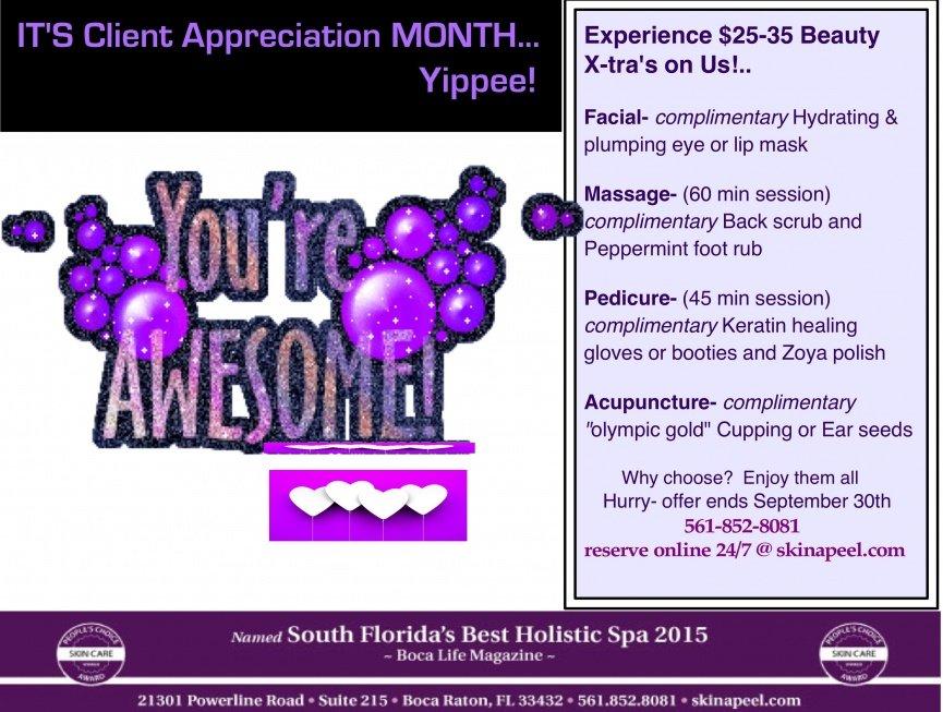 Client Appreciation Month