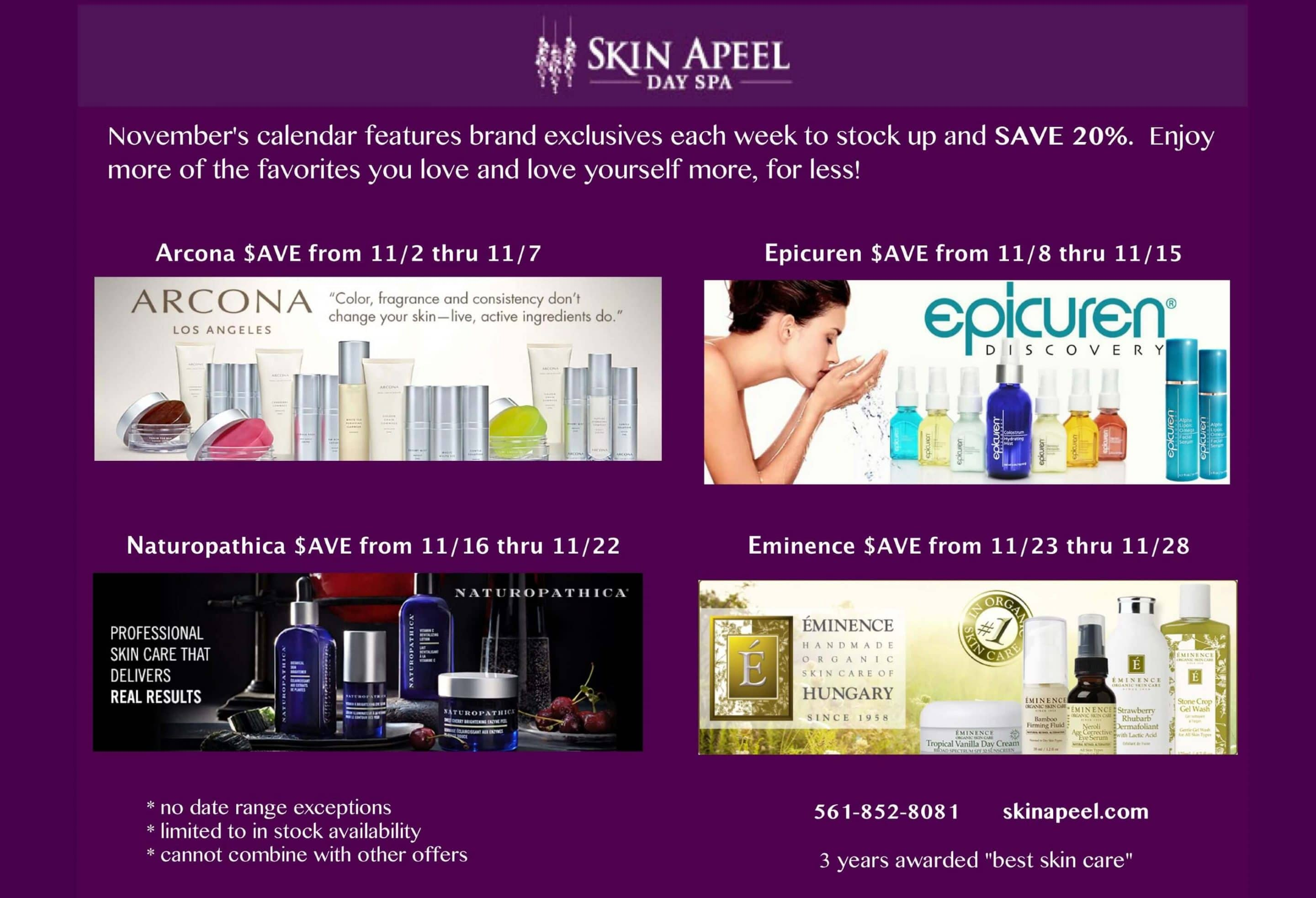 skin products
