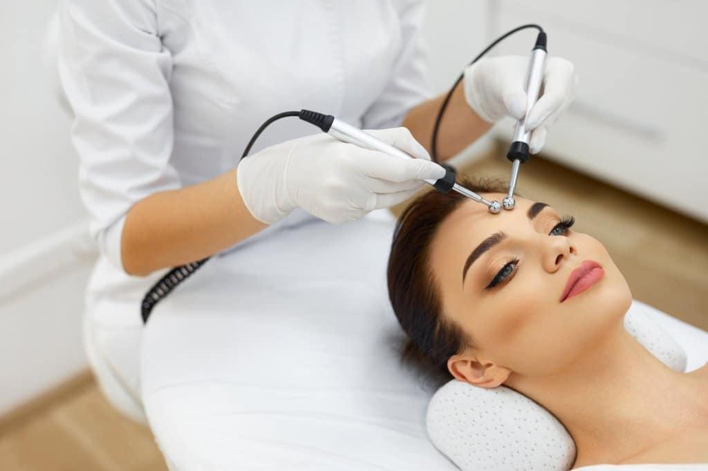 Microcurrent facial treatment
